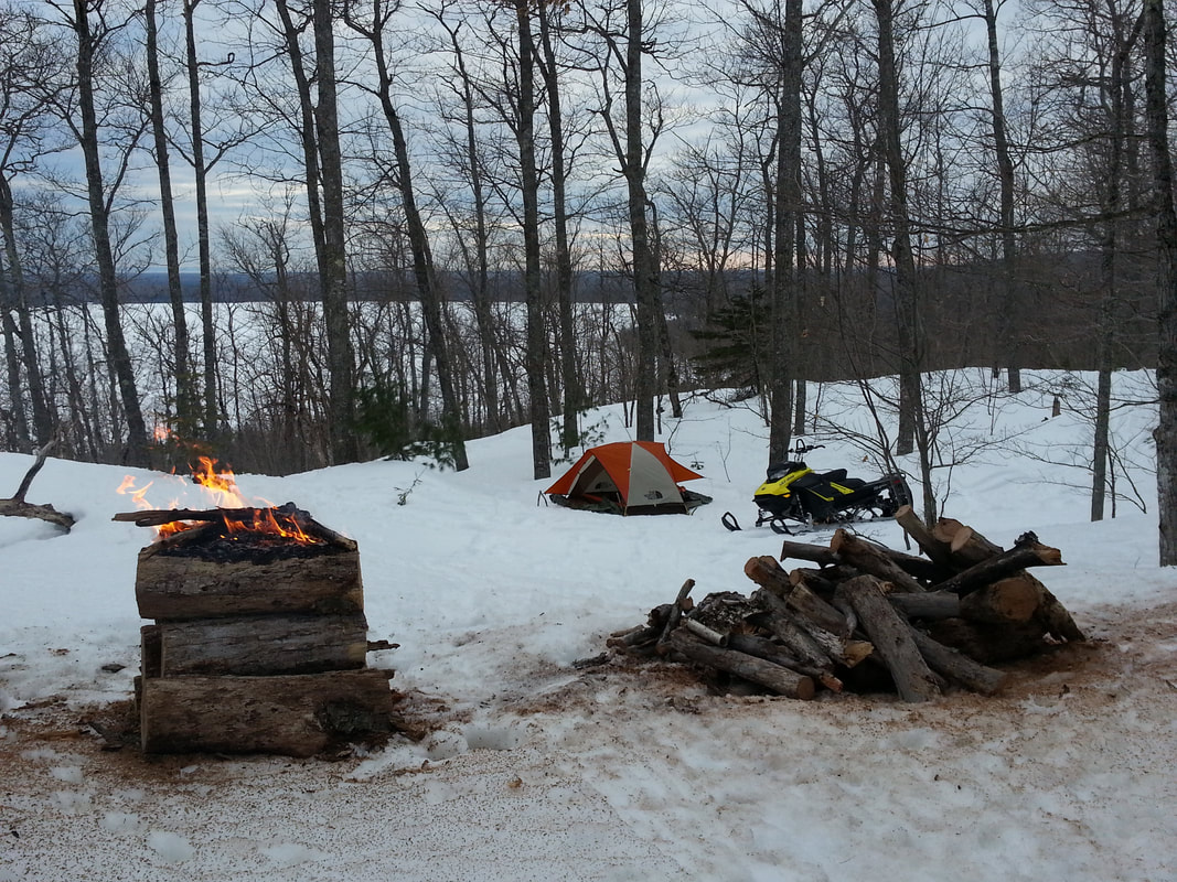 Winter Camping - Keweenaw snow Expeditions